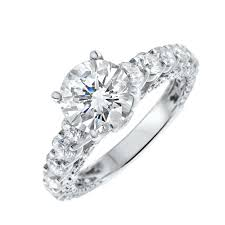 40000 engagement ring 18kt white gold engagement ring with center 1 72ct f si3