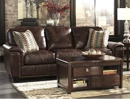 Real Leather Sofa Sale Benchcraft Leather Rustic Sofas
