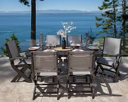 polywood coastal 7 piece dining set u0026 reviews wayfair