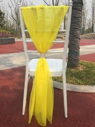 yellow chair sashes bamboo white blue chair sash chair decoration for wedding home