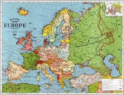 Physical Map Europe by Europe Old Map 1923 For That Pin Board An Actual Real Life