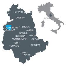 Assisi Italy Map by Home Studio Tecnico Pietrolati