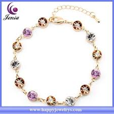 colored stone bracelet images Beautiful design multi color austrian crystal women bracelet 18k jpg