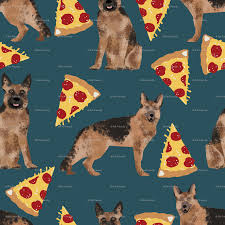 german shepherd pizza navy blue dark navy food cute dog dogs german shepherd pizza navy blue dark navy food cute dog dogs novelty food print wallpaper petfriendly spoonflower