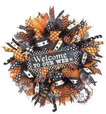 Halloween Deco Mesh Wreath Southern Charm Wreaths