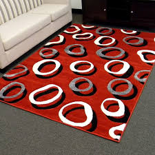 Amazon Com Area Rugs Contemporary Red And Black Area Rug Creative Rugs Decoration