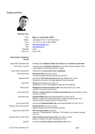 remarkable resume format european countries on curriculum vitae dr