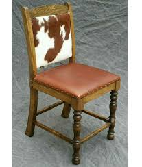 Dining Leather Chair Cowhide Counter Stool Dining Chair Bar Stool Rustic Artistry