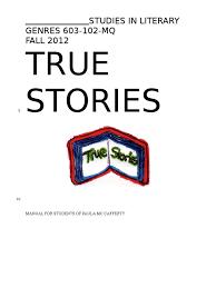 fall 2012 true stories manual june 18 essays books