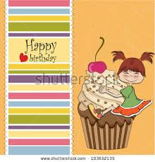 birthday card funny perched on stock vector 103652135