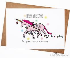 unicorn christmas card greeting cards pinterest unicorn