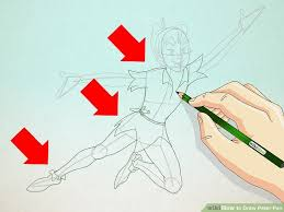 draw peter pan 7 steps pictures wikihow