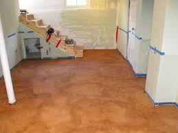 orange man buffing tile carpet floor stock vector 119097280