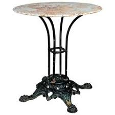 Cast Iron Bistro Table Bistro Table In Marble With A Cast Iron Base For