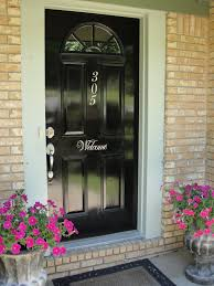 Painting Exterior Doors Ideas Imperfectly Beautiful To Black Front Door Makeover
