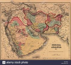 The Middle East Map by 1855 Map Clearly Shows The Political And Cultural Geography Of The