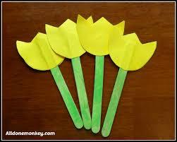 spring flower craft popsicle stick tulips naw ruz flower