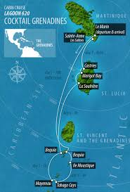 Martinique Map Vpm Yachtcharter Cabin Cruises Cabin Cruise Caribbean