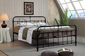 Small King Size Bed Frame by Mandy Double Metal Bed Frame Black Hospital Style Small Double