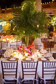 Beach Centerpieces For Wedding Reception by Elegant Tropical Palm Beach Wedding Palm Beach Wedding Palm
