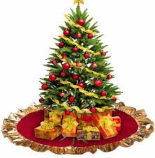 gold tree skirt christmas tree skirt gold ruffle edge the atrio
