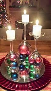 wine glass christmas ornaments diy table decor wine glasses w christmas ornaments