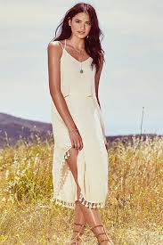 sun dress chic dress sundress tassel dress 58 00