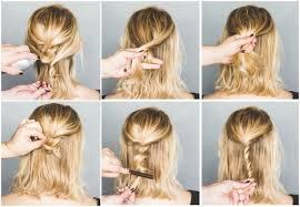 Hochsteckfrisurenen Mit Kurzen Haaren Zum Nachmachen by Frisuren Zum Selber Machen Für Mittellange Haare In Bezug Auf