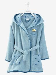 robe de chambre bébé 18 mois peignoir de bain enfant à capuche à personnaliser blanc vertbaudet