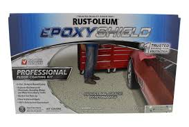 Rustoleum Garage Floor Coating Kit Instructions by Epoxyshield Professional Floor Coating Kit Silver Gray Walmart Com