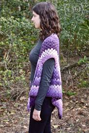 striped granny stitch caron cakes triangle shawl colorful christine