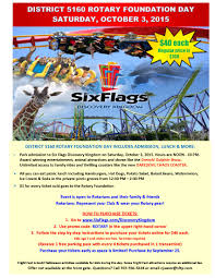 How Much Is It To Get Into Six Flags Rotary Foundation Fun Day Six Flags Vallejo Oct 3 2015 Rotary