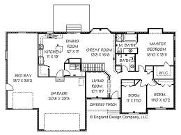 house blueprints gallery for ranch style floor plans with basement 4 bedroom ranch