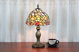 Small Table Lamps by Small Tiffany Style Stained Glass Shade Table Lamps Parrotuncle