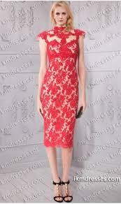 stunning sheer cap sleeves knee length lace applique sheath dress