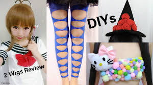 3 last minute halloween diys diy hello kitty costume bow tights