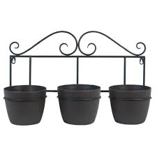 White Wall Planter by Aden Scroll Wall Planter Set Pride Garden Products