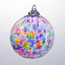 multicolored glass ornament boyce glass