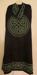 celtic ritual robes black green celtic knot cloak cape pagan wicca ritual robe