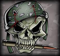 helmet fantastic gun and skull design