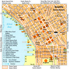 seattle map detailed city map of seattle map
