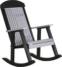 luxcraft porch rocker amish yard