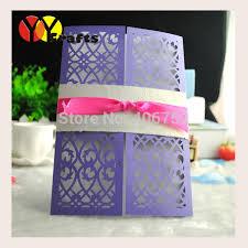 ribbon in bulk 2017 papercrafts purple filigree shape wedding invitation cards