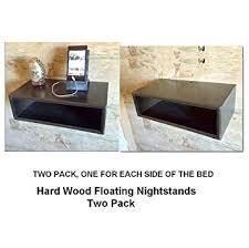 amazon com floating nightstands two pack nightstands all hard