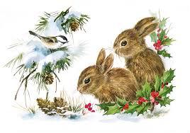 vintage christmas vintage christmas bunnies the graphics fairy