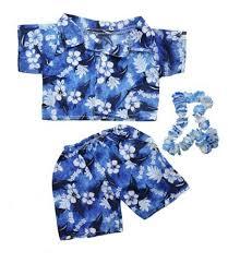 build a clothes for boys hawaiian boy w flower teddy clothes