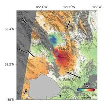 Italy Earthquake Map by Space Images Nasa Analyses Of Global Positioning System Data And
