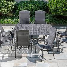 All Weather Wicker Patio Dining Sets - amazon com alfresco home hemingway all weather wicker square 8
