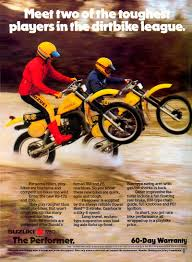 1980 suzuki rs175 and 250 advertisement ts style motors in pe
