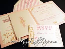new shabby chic wedding invitation my lady dye